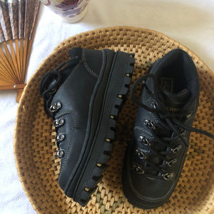 Skechers VINTAGE Chunky Platform Black Jammers